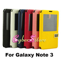 Wholesale Note3 S View Flip Wallet Leather Case Cover With Stand For Samsung Galaxy Note N9000 III Cheapest