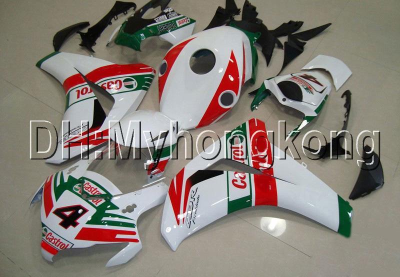Castrol rojo verde 7Gifts para Honda CBR1000RR 08 09 10 11 CBR 1000 1000RR MH9117 CBR1000 RR 2008 2009 2010 2011 nuevo Kit de carenaje blanco rojo