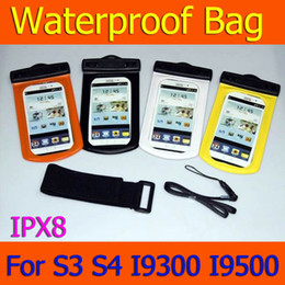 Clear Plastic Galaxy S3 Cases Canada - 100% IPX8 Waterproof bag Mobile Phone Pouch Case with Armband 10M Underwater Water For Samsung Galaxy S3 i9300 S4 i9500