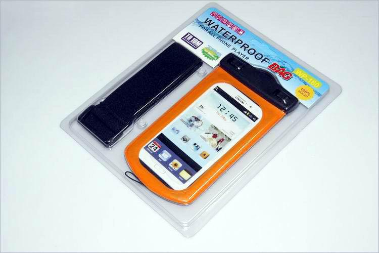 100% IPX8 Waterproof bag Mobile Phone Pouch Case with Armband 10M Underwater Water For Samsung Galaxy S3 i9300 S4 i9500