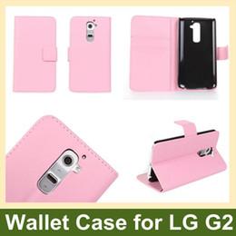 Wholesale Lg G2 Fashion Leather Wallet - Wholesale Fashion PU Leather Wallet Flip Cover Case for LG G2 D802 10pcs lot Free Shipping