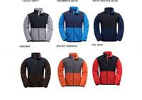 casacos com desconto venda por atacado-Homens com desconto velo jaquetas magras jaquetas de esqui ao ar livre quentes 4 bolsos com zíper escondido S-XXL rápido frete grátis