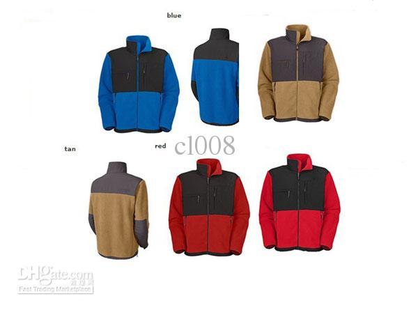 割引男性フリースジャケットスリム暖かい屋外スキージャケット4ポケット隠しジッパーS-XXL速い送料無料