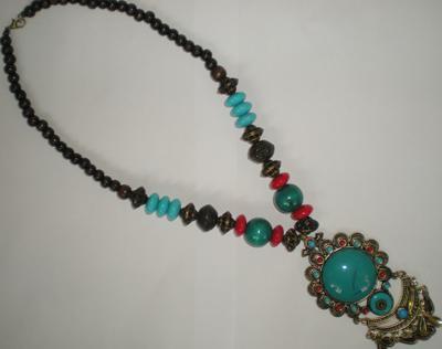 Традиционные этические ожерелье Тибетский ювелирные изделия женщина ожерелье ювелирные изделия низкая цена корабль в течение 1 рабочих дней 22 шт. / лот #3399