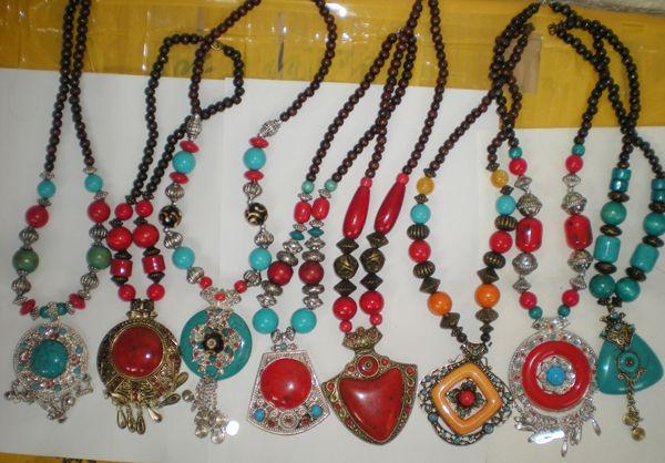 Traditionelle ethische Halskette tibetischen Schmuck Frau Anhänger Halskette Schmuck niedrigsten Preis Schiff innerhalb 1 Werktagen 22 Stück / Los # 3399