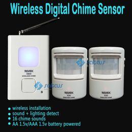 Wholesale Doorbell Sensor Chime - Wireless Pir Motion Sensor Digital Doorbell Door Chime,Driveway Patrol Security Alarm and Motion Sensor,Welcome Door Bell 16 Chime Sounds