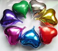 coração em forma de balões de folha de ouro venda por atacado-20PCS 18