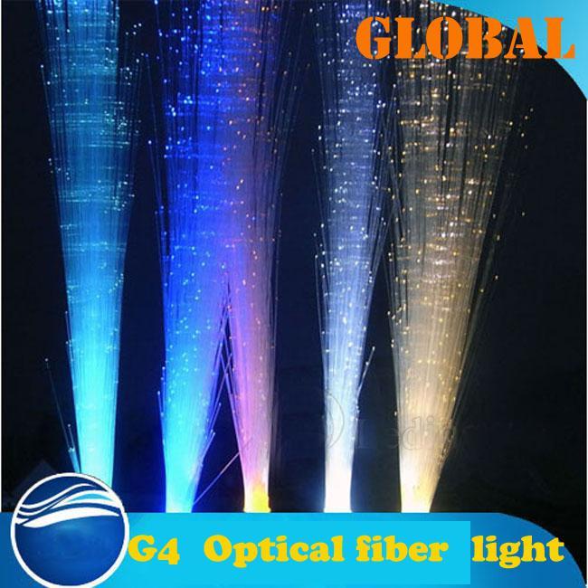 G4 LEVOU Fibra Óptica Luz DC 12 V Roxo Rosa Quente Verde Vermelho Azul cores Lâmpada LED lâmpada de Poupança de energia luz frete grátis Presentes de Natal