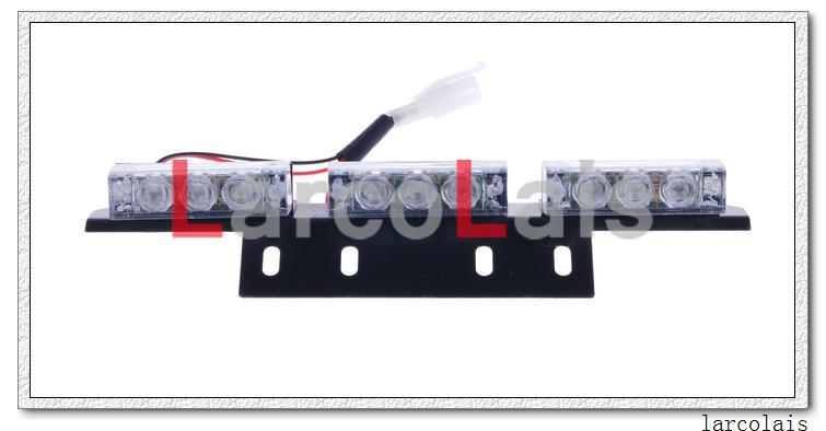 Amber White 4x9 LED Strobe Lights Flashing Warning Emergency Flash Grille Car 4 x 9 LED Light