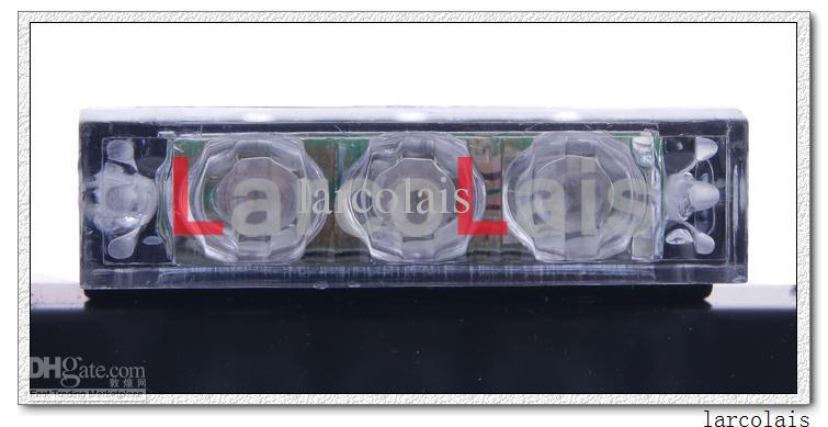 Amber White 4x9 LED Blitzleuchten Blinkende Warnung Notfall Flash Grille Auto 4 x 9 LED-Licht