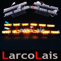 Griglia flash online-Amber White 4x9 LED Strobe Lights Flashing Warning Emergenza Flash Grille Car 4 x 9 LED Light