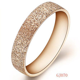 $enCountryForm.capitalKeyWord NZ - Free shipping Korean jewelry factory direct wholesale new female pure steel rose gold ring GJ070