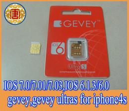 Wholesale Gevey Original - original Gevey sim unlock card for iphone 4s .IOS 7.0.4 ,IOS 7.0.1, IOS 7.0.3,IOS 6.1.3, IOS 6.0,gevey,gevey ultras for iphone4s