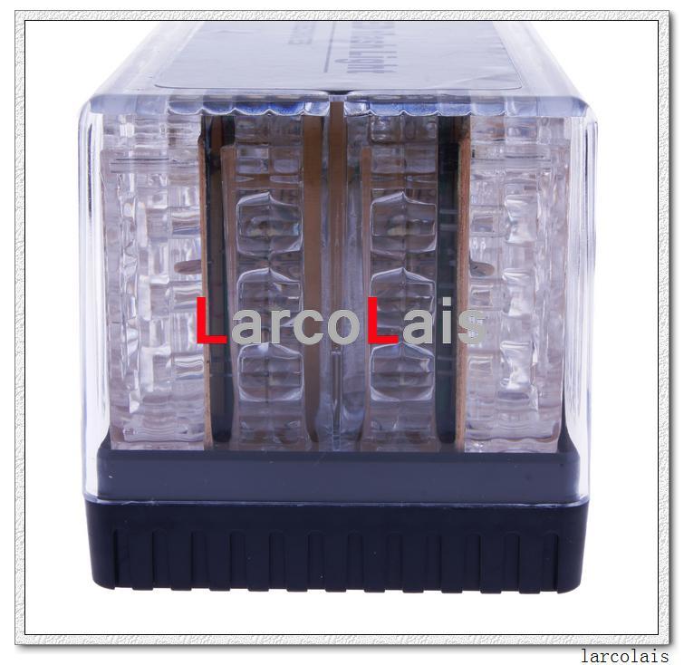 8色48 LED 12V EMSライトカールーフフラッシュストロボマグネット緊急シェル点滅ライト48LED