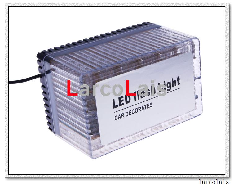 Ámbar 48 LED Luz 12V Coche Techo Flash Estroboscópico Imanes Luces intermitentes de emergencia de Shell Luz de 48LED EMS