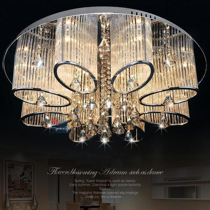Stock In Us New Modern Chandelier Living Room Ceiling Light Lamp Fixture Crystal Lighting Bulbs Cream From Yogurt 35176