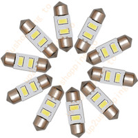 Wholesale Best Led Dome Light - 10pcs Bright White LED Dome Bulbs 2 SMD Festoon lights 31mm to 32mm License Plate for best price free shipping