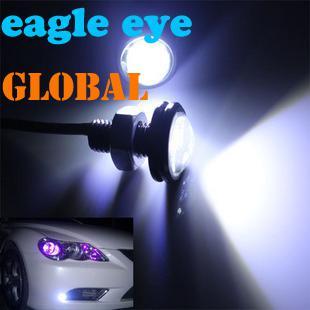 新しい到着ultrathin 10W DIY昼間のランニングライト車LED反転アンチ写真イーグルのアイランプ23mm LED電球ランプ省エネライト