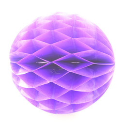 "Wholesale Ball Chairs - 100pcs 14"" Colorful Purple Tissue Paper Honeycomb Ball Best Ornament for Wedding Room Chair Birthday Party Decoration Free Shipping"