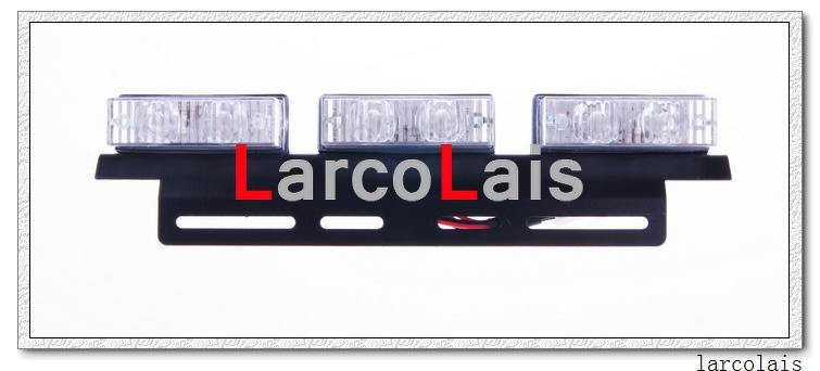 アンバーホワイト2 x 6-LEDインジケーター点滅フラッシュストロボ緊急グリル車トラックライトライト6 LED
