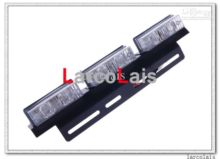 Amber White Specify Color Commentaar 2 x 6-LED-indicator Knipperende Flash Strobe Noodgrille Auto Truck Light Lights 6 LED