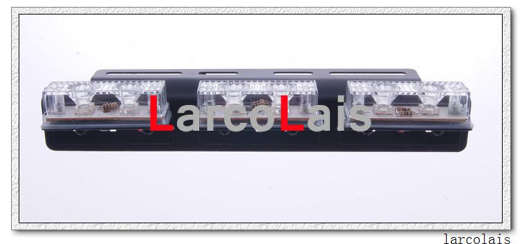 Larcolais New 2 x 6 LED Indicator Flashing Flash Strobe Emergency Grille Car Truck Light Lights LED Car Light