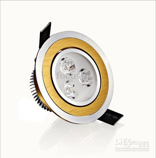Crazy Price-9W 3X3W Foco empotrable LED Accesorio empotrable de 3.5 pulgadas Luces caídas + Potencia Lámparas para gabinete del conductor AC110-240V Blanco cálido / frío Regulable / no