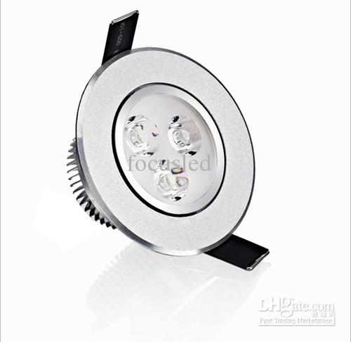 Crazy Price-9W 3X3W LED Downlight 3,5-Zoll-Leuchte Einbauleuchte mit Beleuchtung + Leistungstreiber-Schranklampen AC110-240V Warm / Cool White Dimmable / Non