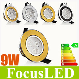 Wholesale Downlight Inch - Christmas Sale-Super Bright 9W 3X3W LED Downlight 3.5 inch Fixture Recessed Lamps 60 Angle+Power Driver AC110-240V Warm Cool White 4 Style