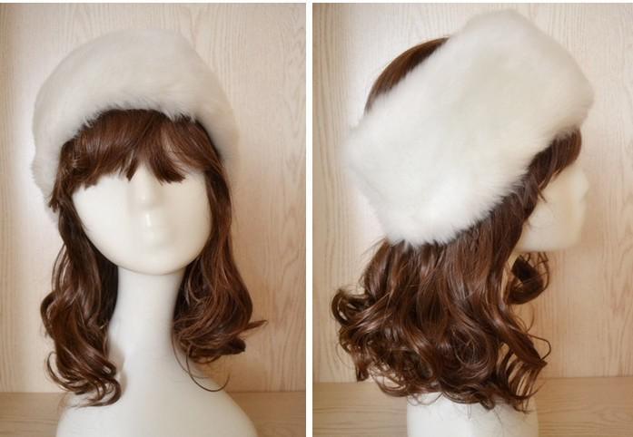 LUXURY FAUX FUR HeadBand HEAD BANDS Hats Fashion Apparel Cap Hat mixed color #3400