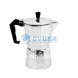 Wholesale Drip Cup - New Stove Top 6 CUPS 300ML Continental Aluminum Coffee Maker Coffee Pot Machine Percolator TK0863