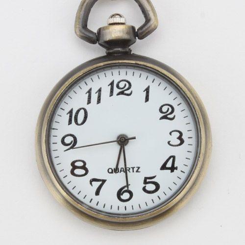 Aleación agradable gran ronda llavero reloj de bolsillo reloj de cuarzo reloj llavero colgante cadena anillo deportivo mujer reloj Mini