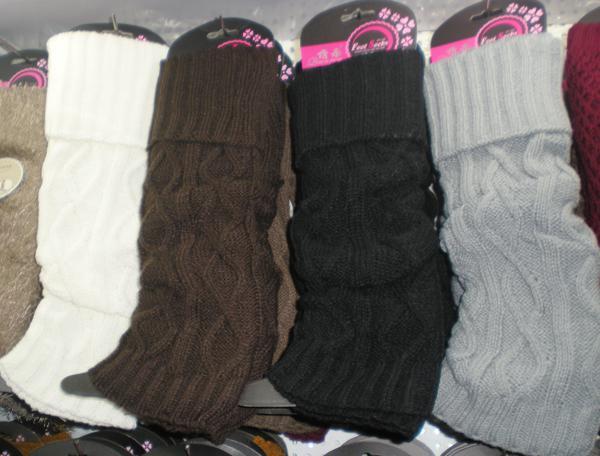 Solid Winter Knit Crochet Acrylic Leg Warmers Boot Covers Tight Women Dance Leg Warmers Legging #3406