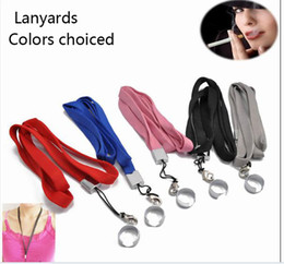 Wholesale Ego T Lanyard - Good quality Multi-color eGo necklace nice EGO-T lanyard Strap Hang Rope Sling with Steel Ring for EGO Series Electronic Cigarette Battery