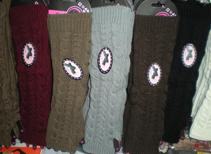 Sólido de invierno de lujo sin dedos Guantes de brazo largos sin dedos 48 pares / lote colores de diseño mixto # 3419