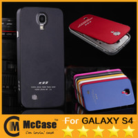 Wholesale Galaxy S4 Thin Bumper - Deluxe All Metal Aluminum Bumper Back Battery Cover Case for Samsung Galaxy S4 I9500 Ultra-Thin Metal Aluminium Cases 50pcs