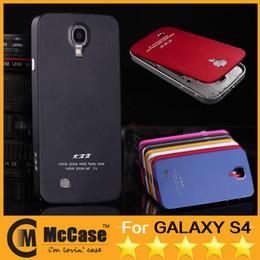 Wholesale Bumper Aluminium Case For S4 - Deluxe All Metal Aluminum Bumper Back Battery Cover Case for Samsung Galaxy S4 I9500 Ultra-Thin Metal Aluminium Cases 50pcs