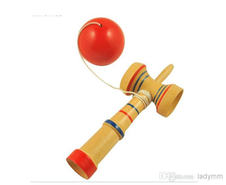 送料無料100ピース/ロット13.5 * 5.5cm剣士カップアンドボールゲーム剣道和玩具木製おもちゃ