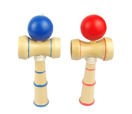 Wholesale Kendama Wooden - Free shipping 100pcs lot 13.5*5.5cm kendama cup-and-ball game kendama japanese toy wooden toy