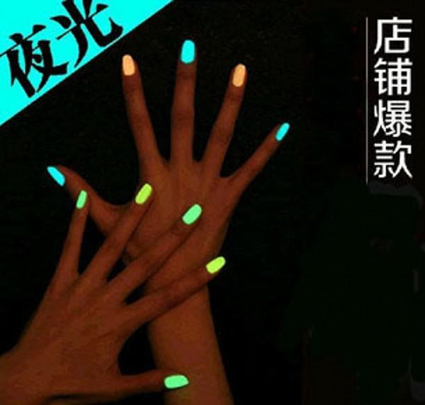 Конфеты цветов светящейся лак матовый цвет флуоресцентный лак для ногтей Night Elf