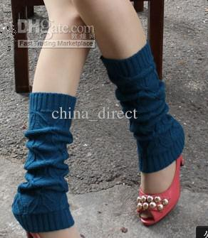 2015 button down twist Knitted Leg Warmers Stocking Socks Boot Covers Leggings Tight mixed colors #3424
