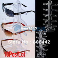 Wholesale Eyeglasses Rack - 10Pcs Lot Eyeglasses Sunglasses Frame Plastic Glasses Display Rack Stand Holder Free Shipping 10308