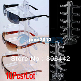 Wholesale Sunglasses Rack Displays - 10Pcs Lot Eyeglasses Sunglasses Frame Plastic Glasses Display Rack Stand Holder Free Shipping 10308