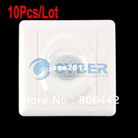 Wholesale Automatic Light Switching - Wholesale 10Pcs Lot AC 180-240V Infrared Save Energy Motion PIR Sensor Automatic Light Switch White TK0524