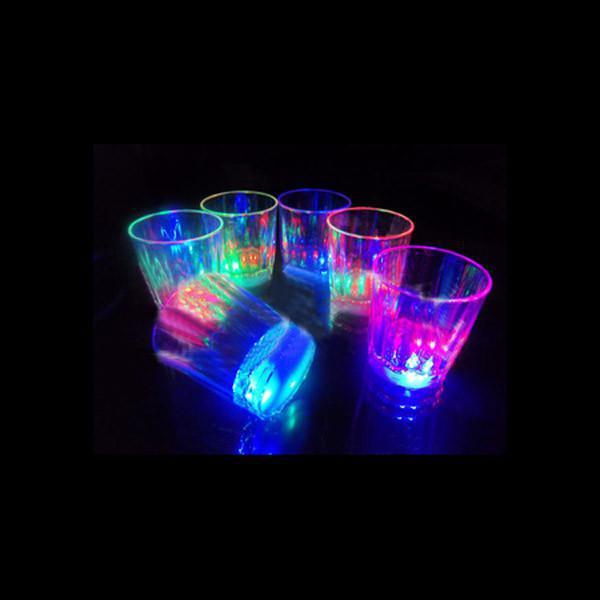 LED drinkware Flash shot Copa de Navidad Suministros de Halloween Festival CUP club de neón taza fiesta de cumpleaños colorida taza 120 unids