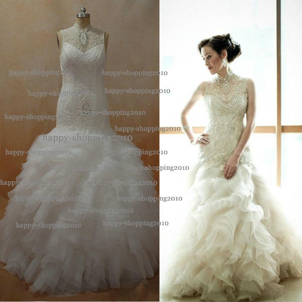 Veluz Reyes Wedding Gown: Wedding Dresses By Veluz Reyes Sheer Lace High Neck With