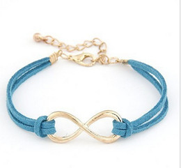 Wholesale Wholesale Jewelry Shopping Bracelets - Fashion Infinity bracelet Eight cross bracelet bangle jewelry!Free shipping!! cRYSTAL sHOP