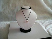 Wholesale Doll Mannequin Jewelry Holders - White PU Handmade Jewelry Display Neckform, Necklace Stand Body Display Rack. Mannequin Necklace Holder Doll 18CM height