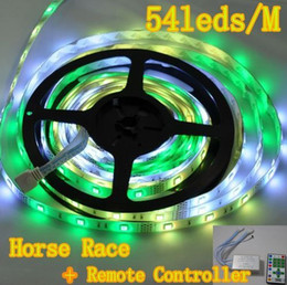 Wholesale Horse Race Led Strips - Factory price 5050 RGB LED Strip Horse race Chasing Dream Color 270LED 5M waterproof Flexible with RGB Controller 12V 5A power