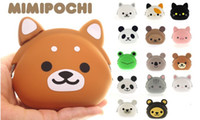 Wholesale Candy Gift Animal - Christmas Children gift!! Animal Cartoon cat Coin Purse Wallet Soft Silicone Change Pocket Pouch Candy Colors key wallets 15Models best2011